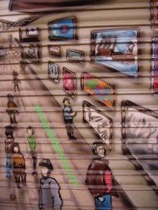 murcia calle mulas1 225x300 Grafiteros + Comerciantes = Arte en la calle