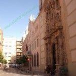 a la derecha Iglesia de la Merced, a continuación Universidad de Murcia