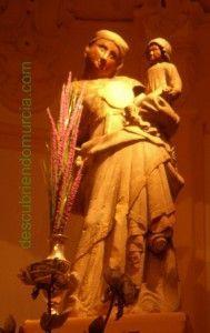 virgen cuello tuerto1 189x300 La Virgen del Cuello Tuerto en La Merced Murcia