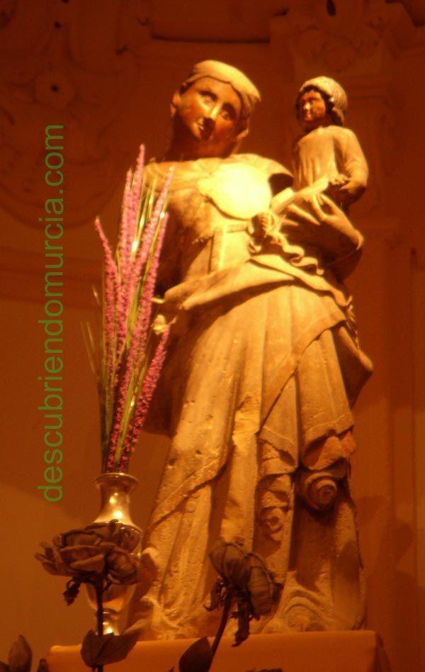 virgen cuello tuerto1 La Virgen del Cuello Tuerto en La Merced Murcia