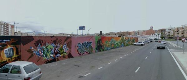 graffitis en San Pio X Murcia Se celebra el Festival Hip Hop Street Session Part.2 en San Pío X