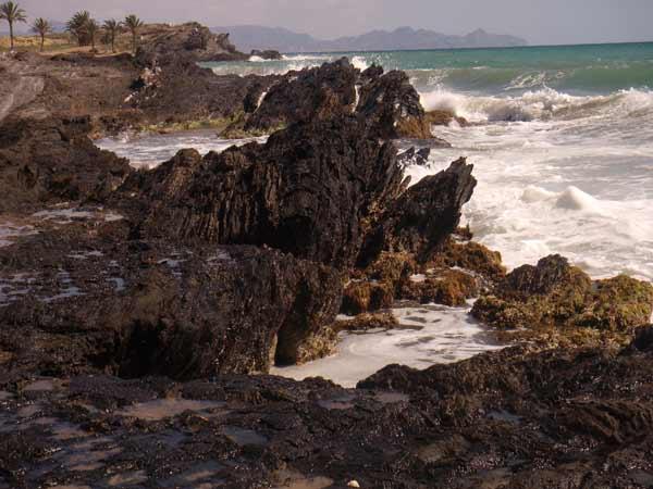 Percheles Mazarron Murcia Percheles y su paradisíaca playa a vista de dron