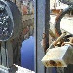 puente con candados en Orihuela