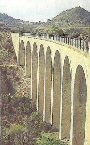 viaducto via verde noroeste Murcia 186x300 La Vía Verde del Noroeste y sus viaductos