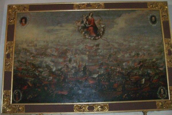 Batalla Lepanto Iglesia Santo Domingo Murcia El cuadro de la Batalla de Lepanto en la Iglesia de Santo Domingo en Murcia
