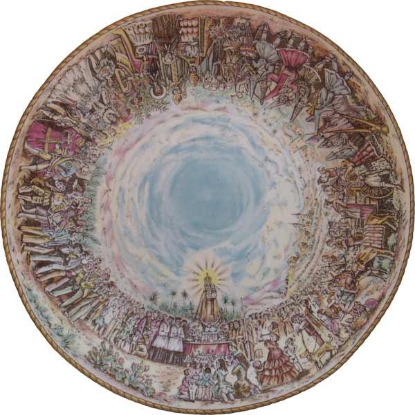 Santuario de la Fuensanta Murcia plato Cúpula del Santuario de La Fuensanta en un plato