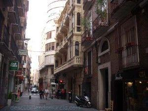 calle Andres Baquero Murcia 300x225 Un seguro de incendios histórico en la calle Andrés Baquero de Murcia