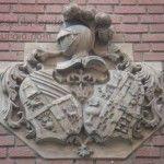 calle las Mulas Murcia escudo barroco