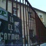 Curioso y viejo cartel en el Instituto del Carmen