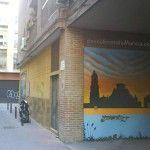 Mural en un garaje del Barrio del Carmen