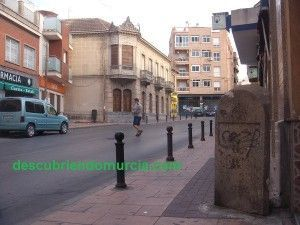 Calle Mayor El Palmar Murcia 300x225 Un mojón en la calle Mayor de El Palmar