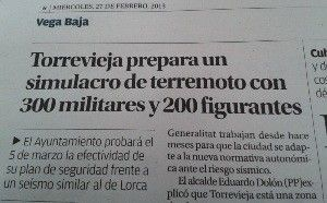 simulacro terremoto Torrevieja Torrevieja se prepara para un posible terremoto como el de Lorca