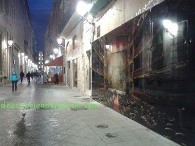 calle Traperia Murcia foto Joaquin Zamora El muro que dividió la ciudad de Murcia, en la calle Trapería