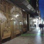 Fotos gigantes en las calles del casco histórico de Murcia