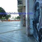 Un graffiti con el pintor Párraga por protagonista