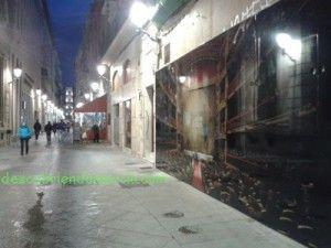 calle Traperia Murcia foto Joaquin Zamora 300x225 El muro que dividió la ciudad de Murcia, en la calle Trapería