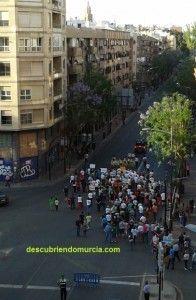 Manifestacion Soterramiento de las Vias Murcia 196x300 Manifestación en favor del soterramiento de las vías en Murcia