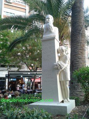 escultura Ricardo Codorniu Santo Domingo Murcia El monumento a Ricardo Codorniú vuelve a Santo Domingo
