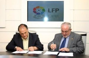 UCAM y Liga Futbol Profesional 300x196 La Liga de Fútbol Profesional y la UCAM, firman un convenio de colaboración