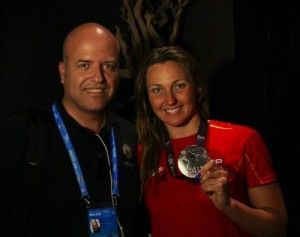 Melani Costa y Pablo Rosique UCAM 300x237 Éxito de las nadadoras de la UCAM en los Mundiales de Barcelona
