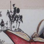 Mural El Quijote en IES El Carmen, Murcia