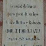 Conde Floridablanca estatua Murcia 150x150 La reciclada estatua del Conde de Floridablanca
