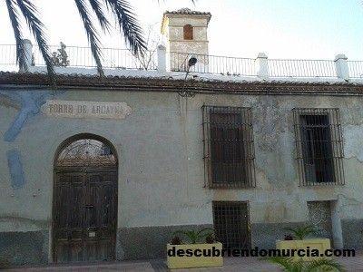 Torre de Arcayna Churra Murcia Monumentos de la Huerta de Murcia esperando ser declarados BIC