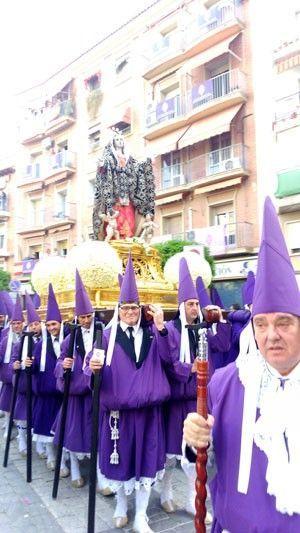 Dolorosa Salzillo Murcia Viernes Santo Salzillo sale a las calles de Murcia. Viernes Santo