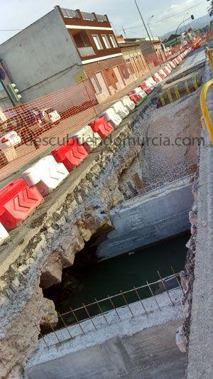 Puente Carretera El Palmar Murcia El destruido puente del Conde de Floridablanca en Aljucer