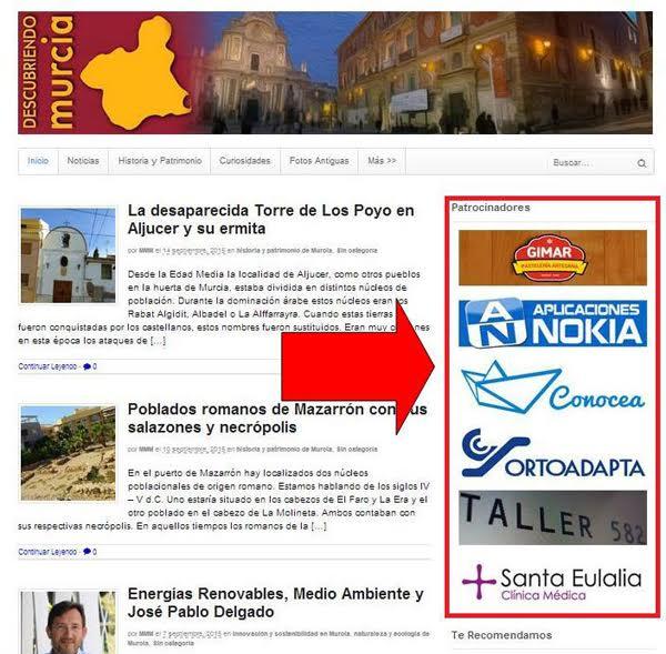 patrocinadores descubriendomurcia Publicidad
