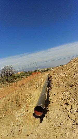 Tuberia Aguilas Lorca Totana Regar los campos de Lorca y Totana con agua de Águilas