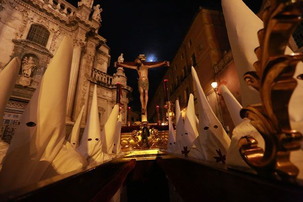 Cristo de la Salud Murcia Martes Santo Cofradía de la Salud Murcia. Andaluces, estudiantes y monárquicos