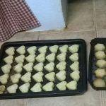 Preparando los dulces de Navidad