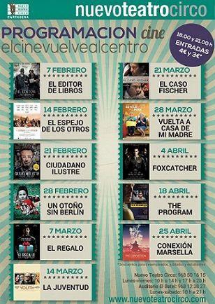 Nuevo Teatro Circo Cartagena Cine Nuevo Teatro Circo Cartagena. Programación Marzo 2017
